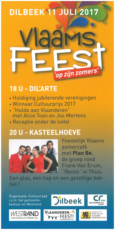 De cultuurraad organiseert dit jaar samen met de gemeente het feest van de Vlaamse gemeenschap op dinsdag 11 juli in twee luiken